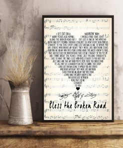 Bless the Broken Road Rascal Flatts lyrics poster