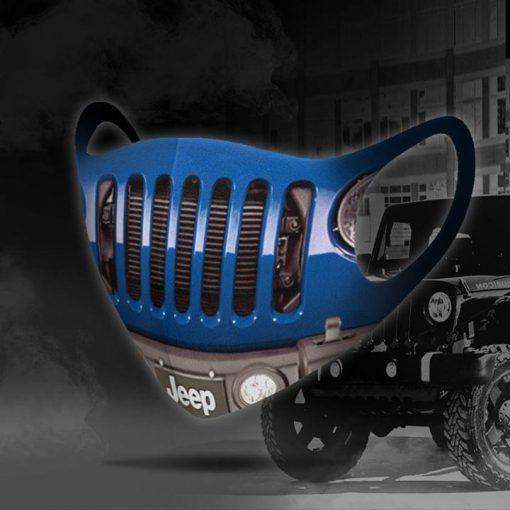 Blue Jeep 3D face mask