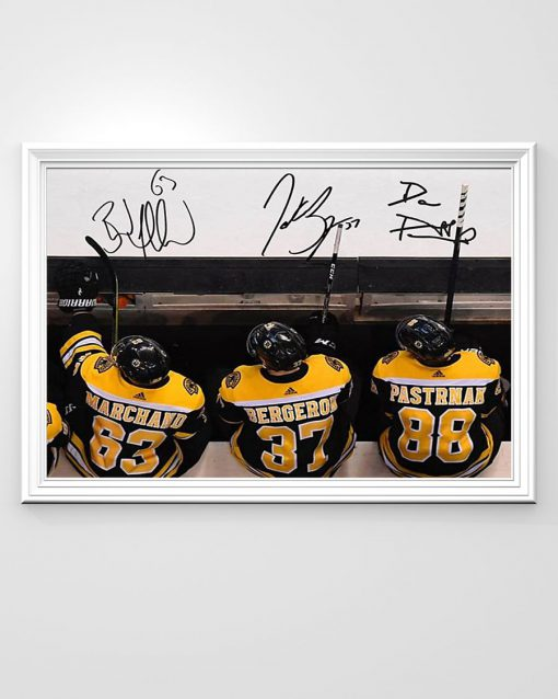 Boston Bruins - 37 Patrice Bergeron - 63 Brad Marchand - 88 David Pastrnak poster 2