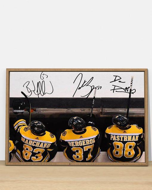 Boston Bruins - 37 Patrice Bergeron - 63 Brad Marchand - 88 David Pastrnak poster 3