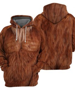 Brown Bigfoot Fur 3D hoodie