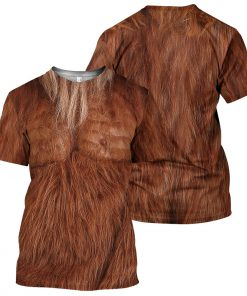 Brown Bigfoot Fur 3D hoodie2