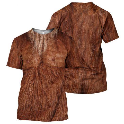 Brown Bigfoot Fur 3D hoodie2