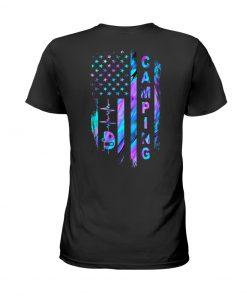 Camping American flag shirt
