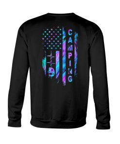 Camping American flag sweatshirt