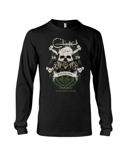 Clutch band Skull 2020 Covid-10 Pandemic Long sleeve