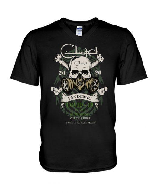 Clutch band Skull 2020 Covid-10 Pandemic V-neck