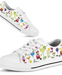 Cocktail pattern low top shoes1