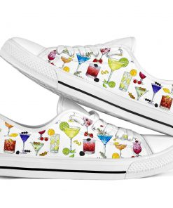 Cocktail pattern low top shoes2
