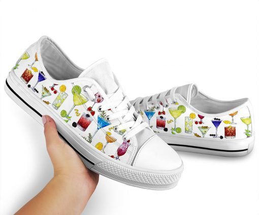 Cocktail pattern low top shoes3