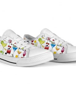 Cocktail pattern low top shoes5