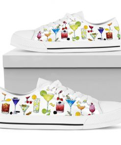 Cocktail pattern low top shoes6