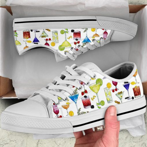 Cocktail pattern low top shoes7