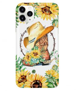 Cowboy boots with sunflowers phone case 11