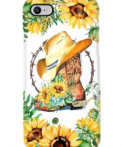 Cowboy boots with sunflowers phone case 7