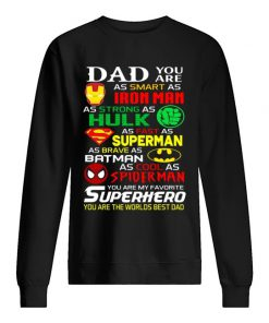 Dad you are as smart as Ironman As strong as Hulk sweatshirt