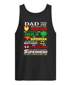 Dad you are as smart as Ironman As strong as Hulk tank top