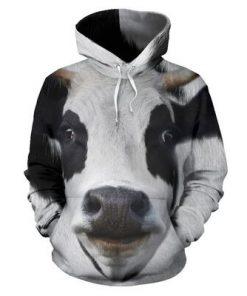 Dairy cow 3D hoodie 1