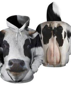Dairy cow 3D hoodie