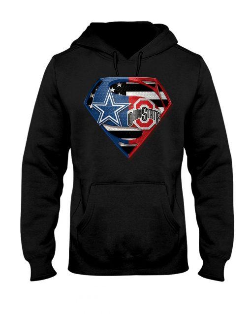 Dallas Cowboys and Ohio State Buckeyes super team hoodie