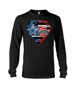 Dallas Cowboys and Ohio State Buckeyes super team long sleeved