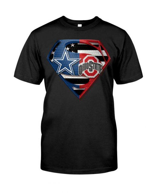 Dallas Cowboys and Ohio State Buckeyes super team shirt