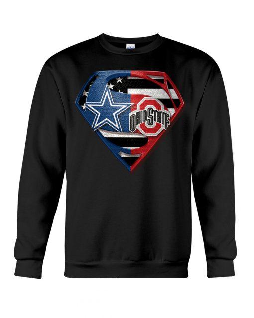 Dallas Cowboys and Ohio State Buckeyes super team sweatshirt