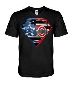 Dallas Cowboys and Ohio State Buckeyes super team v-neck