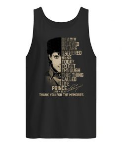 Dearly beloved, we are gathered here today Prince 1958-2016 tank top