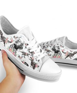 Dinosaurs pattern low top shoes 2