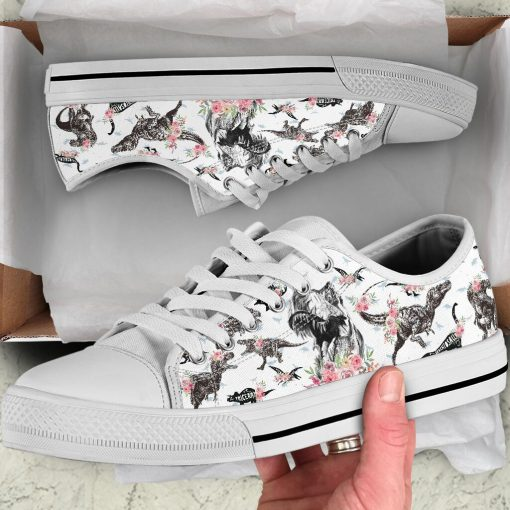 Dinosaurs pattern low top shoes 4