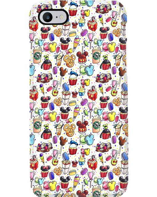 Disneyland cakes phone case 7