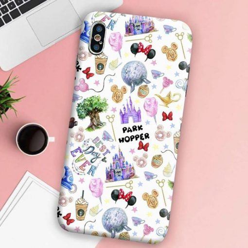 Disneyland pattern Park Whopper phone case