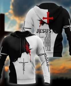 Easter Jesus Is My God My King My Lord 3D hoodie