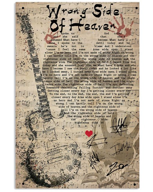 Five Finger Death Punch - Wrong Side Of Heaven - Lyrics poster 1