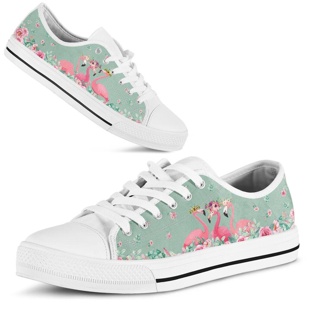 Flamingo's Flower low top shoes
