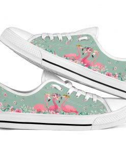 Flamingo's Flower low top shoes1