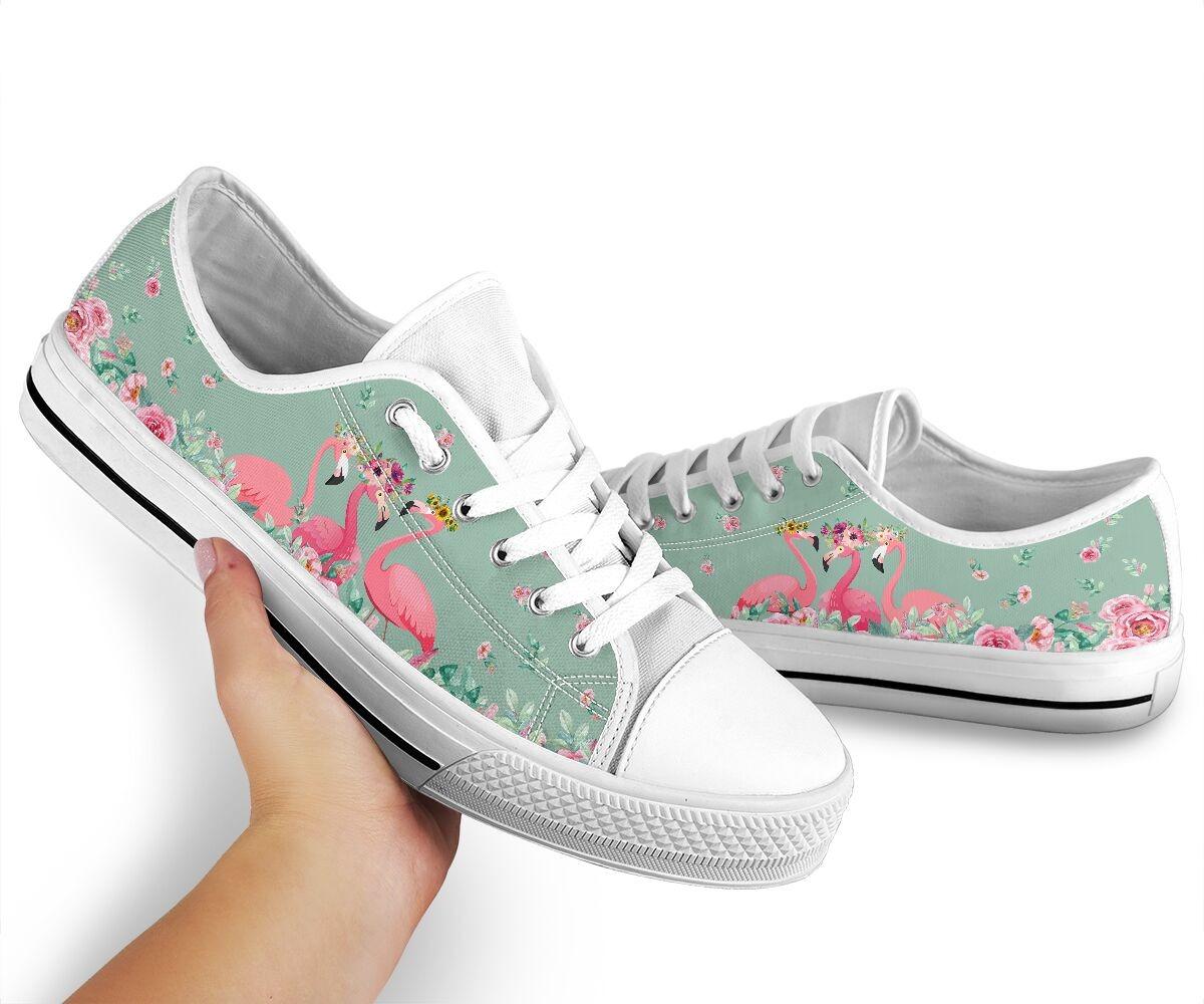 Flamingo's Flower low top shoes2