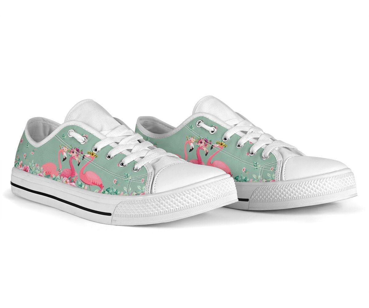 Flamingo's Flower low top shoes4