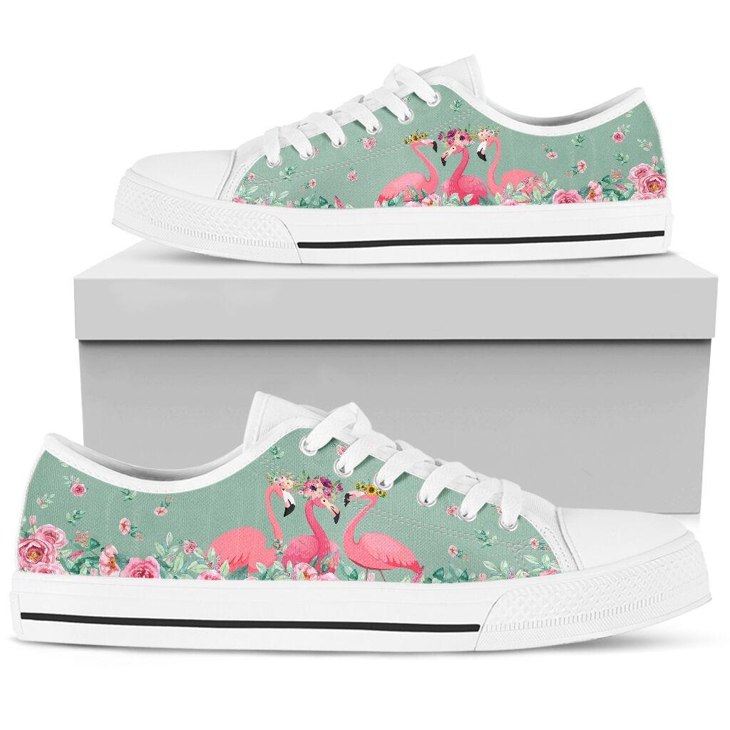 Flamingo's Flower low top shoes5