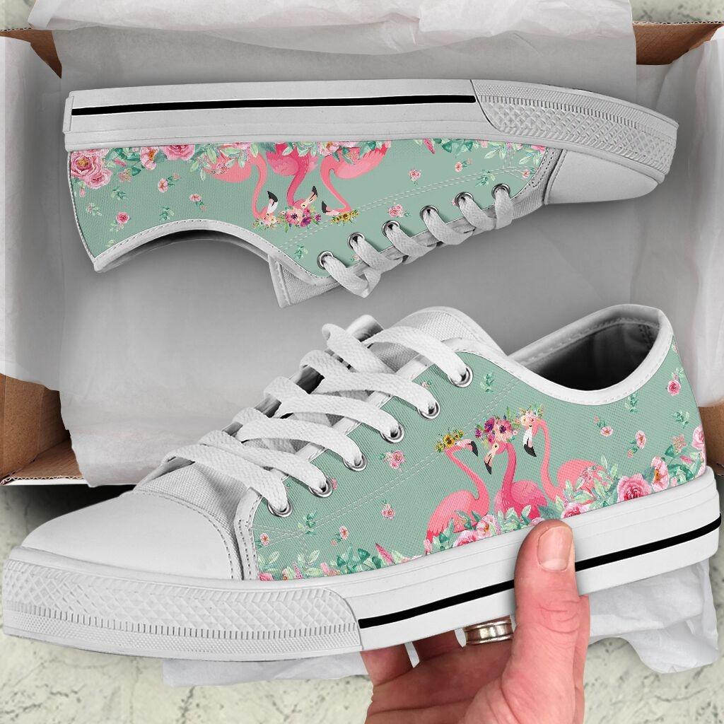 Flamingo's Flower low top shoes6
