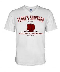 Floki's Shipyard Quality Longboats V-neck