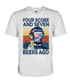 Four Score And Seven Beers ago Abraham Lincoln V-neck