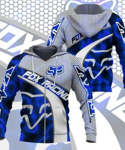 Fox Racing Blue Smoke 3D hoodie