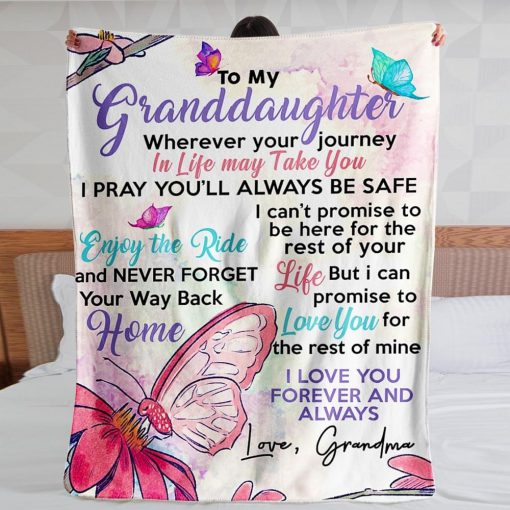 Grandma To my granddaughter Love you for the rest of mine fleece blanket