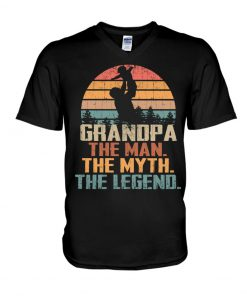Grandpa the man the myth the legend V-neck