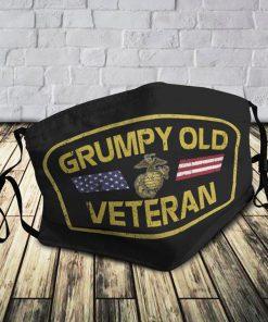 Grumpy Old US Marine Corps Veteran Mask 0