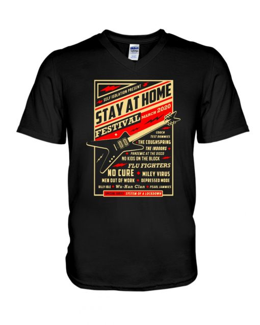 Guitar Stay at home Festival March 2020 V-neck