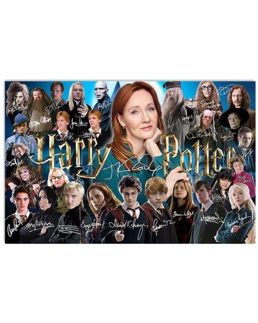 Harry Potter characters signatures poster