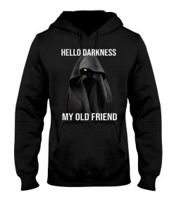 Hello Darkness My Old Friend Black Cat hoodie